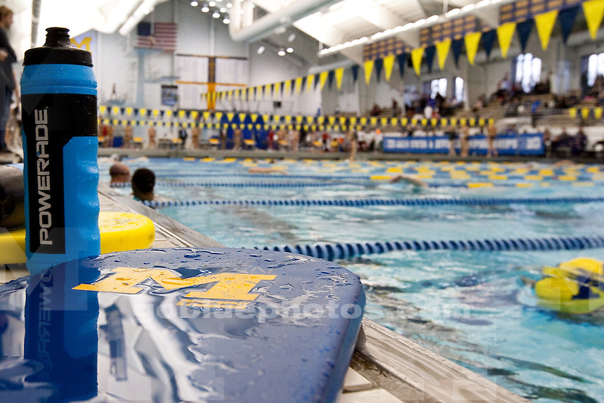 The University of Michigan men's swim and dive team competing during Day 1 of the Big Ten Championships at Canham Natatorium in Ann Arbor, Mich., on Feb. 26, 2014.