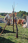 Civil War Reenactment Confederate Camp Rifle Stand
