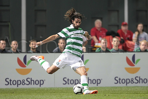 21 JUL 2010:  Celtic's Georgios Samaras (9). Celtic and Sporting Clube de Portugal were scoreless at halftime in an international friendly match, part of the Fenway Football Challenge, at Fenway Park in Boston, Massachusetts on July 21, 2010.