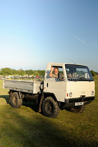 Land Rover Llama prototype driven by Jean-Paul Laenen from JP LAND, France. Dunsfold Collection Open Day 2009. NO RELEASES AVAILABLE.
