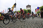The ceremonial start of Stage 2 of the 104th edition of the Tour de France 2017, running 203.5km from Dusseldorf, Germany to Liege, Belgium. 2nd July 2017.<br /> Picture: Eoin Clarke | Cyclefile<br /> <br /> <br /> All photos usage must carry mandatory copyright credit (&copy; Cyclefile | Eoin Clarke)