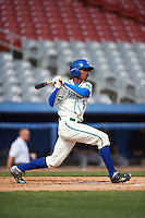 Hartford Yard Goats center fielder Raimel Tapia (15) at bat during the first game of a doubleheader against the Trenton Thunder on June 1, 2016 at Sen. Thomas J. Dodd Memorial Stadium in Norwich, Connecticut.  Trenton defeated Hartford 4-2.  (Mike Janes/Four Seam Images)