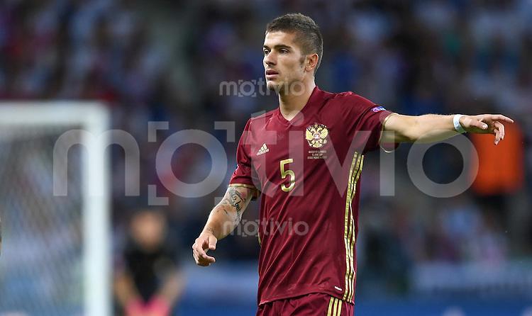 FUSSBALL EURO 2016 GRUPPE B IN LILLE Russland - Slowakei     15.06.2016 Roman Neustaedter (Russland)