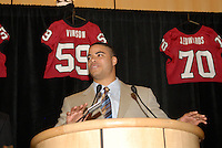 14 January 2007: Trevor Hooper at the annual football banquet at McCaw Hall in Stanford, CA.