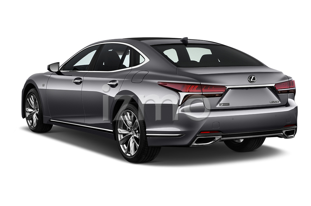 Car pictures of rear three quarter view of a 2018 Lexus LS 500 F-SPORT 4 Door Sedan angular rear