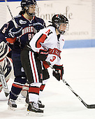 Alexandra Garcia (UConn - 83), Katie MacSorley (NU - 3) - The visiting University of Connecticut Huskies defeated the Northeastern University Huskies 4-2 (EN) in NU's senior game on Saturday, February 19, 2011, at Matthews Arena in Boston, Massachusetts.