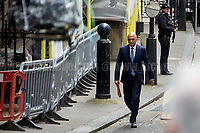 Sajid Javid MP (Secretary of State for Communities and Local Government - Ministerial Champion for the Midlands Engine).<br /> <br /> London, 12/06/2017. Today, Theresa May's reshuffled Cabinet met at 10 Downing Street after the General Election of the 8 June 2017. Philip Hammond MP - not present in the photos - was confirmed as Chancellor of the Exchequer. <br /> After 5 years of the Coalition Government (Conservatives &amp; Liberal Democrats) led by the Conservative Party leader David Cameron, and one year of David Cameron's Government (Who resigned after the Brexit victory at the EU Referendum held in 2016), British people voted in the following way: the Conservative Party gained 318 seats (42.4% - 13,667,213 votes &ndash; 12 seats less than 2015), Labour Party 262 seats (40,0% - 12,874,985 votes &ndash; 30 seats more then 2015); Scottish National Party, SNP 35 seats (3,0% - 977,569 votes &ndash; 21 seats less than 2015); Liberal Democrats 12 seats (7,4% - 2,371,772 votes &ndash; 4 seats more than 2015); Democratic Unionist Party 10 seats (0,9% - 292,316 votes &ndash; 2 seats more than 2015); Sinn Fein 7 seats (0,8% - 238,915 votes &ndash; 3 seats more than 2015); Plaid Cymru 4 seats (0,5% - 164,466 votes &ndash; 1 seat more than 2015); Green Party 1 seat (1,6% - 525,371votes &ndash; Same seat of 2015); UKIP 0 seat (1.8% - 593,852 votes); others 1 seat. <br /> The definitive turn out of the election was 68.7%, 2% higher than the 2015.<br /> <br /> For more info about the election result click here: http://bbc.in/2qVyNRd &amp; http://bit.ly/2s9ob51<br /> <br /> For more info about the Cabinet Ministers click here: https://goo.gl/wmRYRd