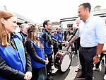 An Taoiseach leo Varadkar meets members of the Drogheda Brass Band at Fleadh Ceoil na hEireann. Photo:Colin Bell/pressphotos.ie