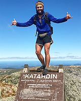 Courtesy photo/MARILYN SLOAS<br /> Elliot Schaefer celebrates completing the Appalachian Trail in September at the summit of Mt. Katahdin in Maine. Schaefer, 24, hiked the Pacific Crest Trail in 2017 and is ready to tackle the Continental Divide Trail starting in April.