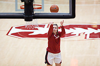 Stanford, CA - January 24, 2020: Warm-ups at Maples Pavilion. The Stanford Cardinal defeated the Colorado Buffaloes in overtime, 76-68.
