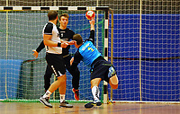 Haiko Metzger (Langen) gegen Andreas Krasusky (Crumstadt/Goddelau) - Crumstadt 02.12.2018: ESG Crumstadt/Goddelau vs. HSG Langen