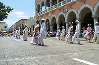 Traditional dancers in town square in Merida, Yucatan, Mexico.