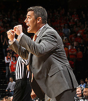 Virginia Cavaliers head coach Tony Bennett calls a play during the game against North Carolina in Charlottesville, Va. North Carolina defeated Virginia 54-51.