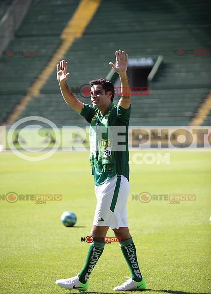 Rafael Marquez durante su presentación como nuevo jugador del Leon, Liga Mx, Enero 2013...<br /> (*Foto:TiradorTercero/NortePhoto*) ***