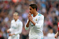 Real Madrid's Raphael Varane dejected during La Liga match. April 8,2018. (ALTERPHOTOS/Acero) /NortePhoto NORTEPHOTOMEXICO