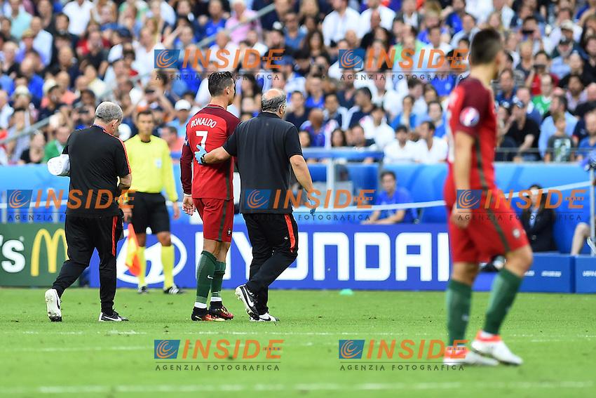 Infortunio Cristiano Ronaldo (Portugal) accident<br /> Paris 10-07-2016 Stade de France Football Euro2016 Portugal - France / Portogallo - Francia Finale / Final<br /> Foto Massimo Insabato / Insidefoto