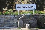 An Ghaeltacht sign on Cape Clear Island, County Cork, Ireland, Irish Republic