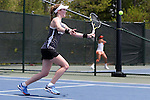 21 April 2016: Notre Dame's Brooke Broda. The University of Notre Dame Fighting Irish played the Clemson University Tigers at the Cary Tennis Center in Cary, North Carolina in the second round of the Atlantic Coast Conference Women's Tennis Tournament. Notre Dame won the match 4-1.