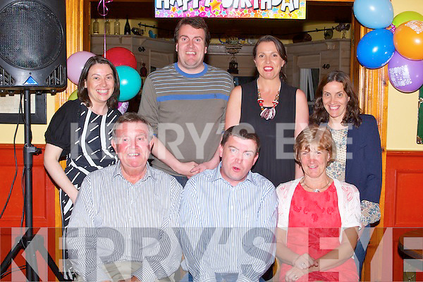 BIRTHDAY BOY: Sean Moriarty, Oakpark, Tralee enjoying a great time celebrating his 40th birthday with family at Stokers Lodge restaurant and bar on Friday seated l-r: Michael, Sean and Margaret Moriarty. Back l-r: Bri?d, David, Mairead and Siobhan Moriarty.