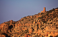 The Indian Watchtower at Desert View on the South Rim of the Grand Canyon.  The Watchtower was designed by Mary Colter for the Fred Harvey Company as was built in 1933.