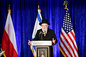 Rabbi Israel Meir Lau, Chairman of Yad Veshem, speaks at the Righteous Among the Nations Award Ceremony which takes place on International Holocaust Remembrance Day and the 71st anniversary of the liberation of Auschwitz at the Embassy of  Israel, in Washington, DC, January 27, 2016. United States President Barack Obama also delivered remarks at this event. <br /> Credit: Aude Guerrucci / Pool via CNP