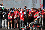 Glasgow 2014 Commonwealth Games<br /> Flag raising ceremony to welcomes Team Wales to the athletes village.<br /> 21.07.14<br /> &copy;Steve Pope-SPORTINGWALES