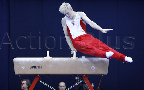 14 05 2010   MOSCOW  Lehner Fabian of Austria Competes during Qualification Match of Men s pommel Horse AT The 2010 FIG Gymnastics World Cup in MOSCOW