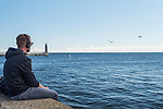 Gdynia, (woj. pomorskie) 21.07.2016.  Wejście do gdyńskiego portu.