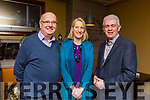 Donal Curtin, Susan Kelly and Mark Sullivan enjoying the Rose Hotel staff party in Benners Hotel on Sunday night.