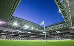 Stockholm 2015-10-25 Fotboll Allsvenskan Hammarby IF - Malm&ouml; FF :  <br /> Vy &ouml;ver Tele2 Arena med publik p&aring; l&auml;ktarna under matchen mellan Hammarby IF och Malm&ouml; FF <br /> (Foto: Kenta J&ouml;nsson) Nyckelord:  Fotboll Allsvenskan Tele2 Arena Hammarby HIF Bajen Malm&ouml; FF MFF inomhus interi&ouml;r interior supporter fans publik supporters