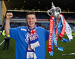 Fraser Aird with the league championship trophy