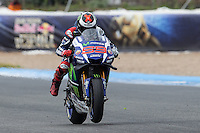 Jorge Lorenzo during the qualifying in Motorcycle Championship GP, in Jerez, Spain. April 23, 2016