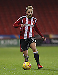 Harry Chapman of Sheffield United during the English Football League One match at Bramall Lane, Sheffield. Picture date: November 22nd, 2016. Pic Jamie Tyerman/Sportimage