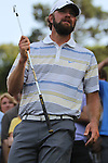 May 8,2011 - Glover prepares to take his second shot from a steep hillside lie as fans watch.  Lucas Glover wins the tournament in sudden death over Jonathan Byrd at Quail Hollow Country Club,Charlotte,NC.