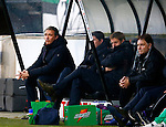 Nederland, Nijmegen, 27 januari 2013.Eredivisie.Seizoen 2012-2013.N.E.C.-FC Groningen .Robert Maaskant, trainer-coach van FC Groningen baalt.