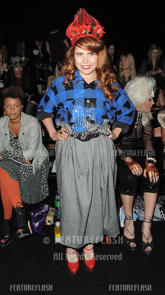 Paloma Faith on the front row of Ashish fashion show, part of London Fashion Week, London. 21/09/2010  Picture by: Simon Burchell / Featureflash