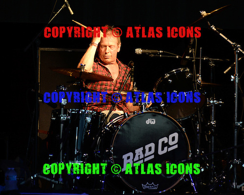 WEST PALM BEACH FL - MAY 29: Simon Kirke of Bad Company performs at The Perfect Vodka Amphitheatre on May 29, 2016 in West Palm Beach, Florida. : Credit Larry Marano © 2016