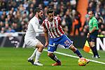 Real Madrid´s Isco and Sporting de Gijon´s Jony during 2015/16 La Liga match between Real Madrid and Sporting de Gijon at Santiago Bernabeu stadium in Madrid, Spain. January 17, 2015. (ALTERPHOTOS/Victor Blanco)