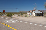 Route 66 and abandoned building