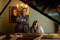 EXCLUSIVE FILE PHOTO -  Manager- Impresario Michel<br /> Buruiana (L) watch over Pianist Marina Bournaki  rehersal in her home, April 2006<br /> <br /> PHOTO  :  Agence Quebec Presse