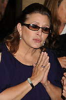 27 December 2016 - Carrie Fisher, the iconic actress who portrayed Princess Leia in the Star Wars series, died Tuesday following a massive heart attack. Carrie Frances Fisher an American actress, screenwriter, author, producer, and speaker, was the daughter of singer Eddie Fisher and actress Debbie Reynolds. File Photo: 31 May 2013 - Beverly Hills, California - Carrie Fisher. 10th Annual Inspiration Awards Luncheon held at the Beverly Hilton Hotel. Photo Credit: Byron Purvis/AdMedia