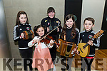 Aideen O'Sullivan, Nancy O'Connor, Ali Clifford, Abbey Sheehan and Tadhg O'Sullivan from Glenbeigh Comhaltas at the kerry Comhaltas Sult na nOg music competition at the IT Tralee on Saturday
