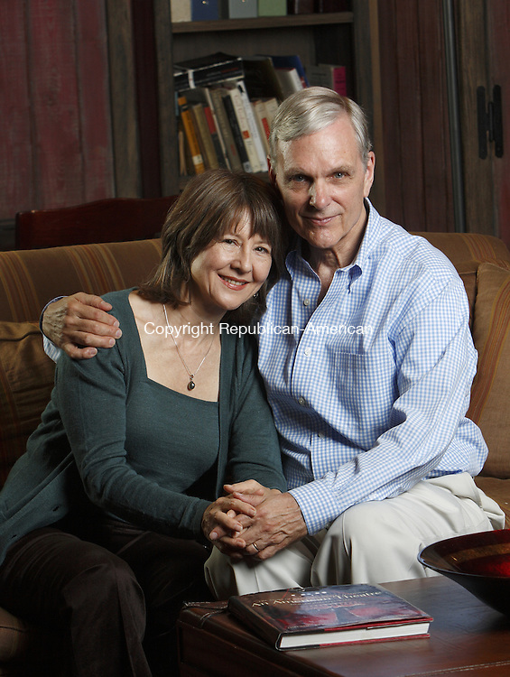 WESTPORT, CT. 10 September 2008--TheatreCT-- Mia Dillon, star of stage and screen, and her husband Keir Dullea, star of 2001: A Space Odyssey, at the Westport Country Playhouse.<br /> Photo by Jamison C. Bazinet