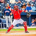 28 February 2017: Washington Nationals catcher Derek Norris in Spring Training action during the inaugural game against the Houston Astros at the Ballpark of the Palm Beaches in West Palm Beach, Florida. The Nationals defeated the Astros 4-3 in Grapefruit League play. Mandatory Credit: Ed Wolfstein Photo *** RAW (NEF) Image File Available ***