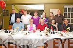 Ruby Celebrations as Mary & Francie Corcoran celebrated their 40th wedding anniversary with family in the Ring of Kerry Hotel, Cahersiveen on Saturday night last pictured front l-r; Kieran Corcoran, Mary & Francie Corcoran, Karrie Corcoran, Russell Vattani, back l-r; John Corcoran, Dec Corcoran, Noreen Corcoran, Deirdre Vattani, Mairead Corcoran & Kevin Nagle.