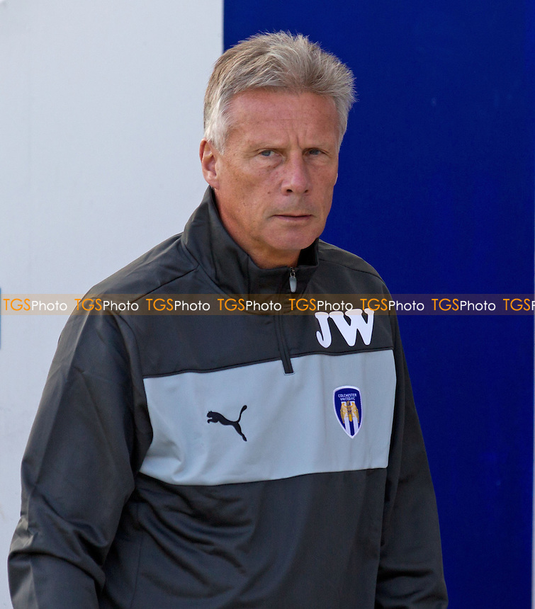 John Ward, Manager, Colchester United FC - Colchester United vs Doncaster Rovers - NPower League One Football at the Weston Homes Community Stadium, Colchester, Essex - 15/09/12 - MANDATORY CREDIT: Ray Lawrence/TGSPHOTO - Self billing applies where appropriate - 0845 094 6026 - contact@tgsphoto.co.uk - NO UNPAID USE.