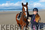 Amy Pollman Daamen with her horse Mona at Banna on Wednesday