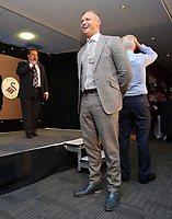 Pictured L-R: Kevin John and Lee Trundle Wednesday 18 May 2017<br /> Re: Swansea City FC, Player of the Year Awards at the Liberty Stadium, Wales, UK.