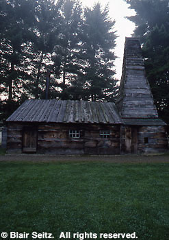 Drake's Well Museum. Replica of Col. Drake's world's first oil well, 1859. Titusville, Vengao Co., PA.