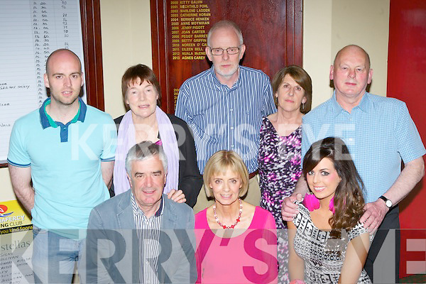 Twins George O'Leary Dublin and Anne O'Shea Milltown who celebrated their 60th birthday with their family and friends in the Killorglin Golf club on Friday night front l-r: George O'Leary, Anne O'Shea, Grace O'Shea. Back row: Kevin O'Shea, Deirdre O'Leary, Paul O'Leary, Helen O'Leary and Owen O'Shea
